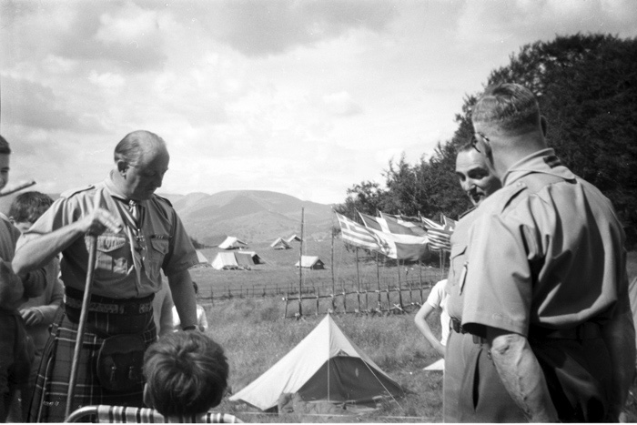 Lord Maclean visits a scout camp