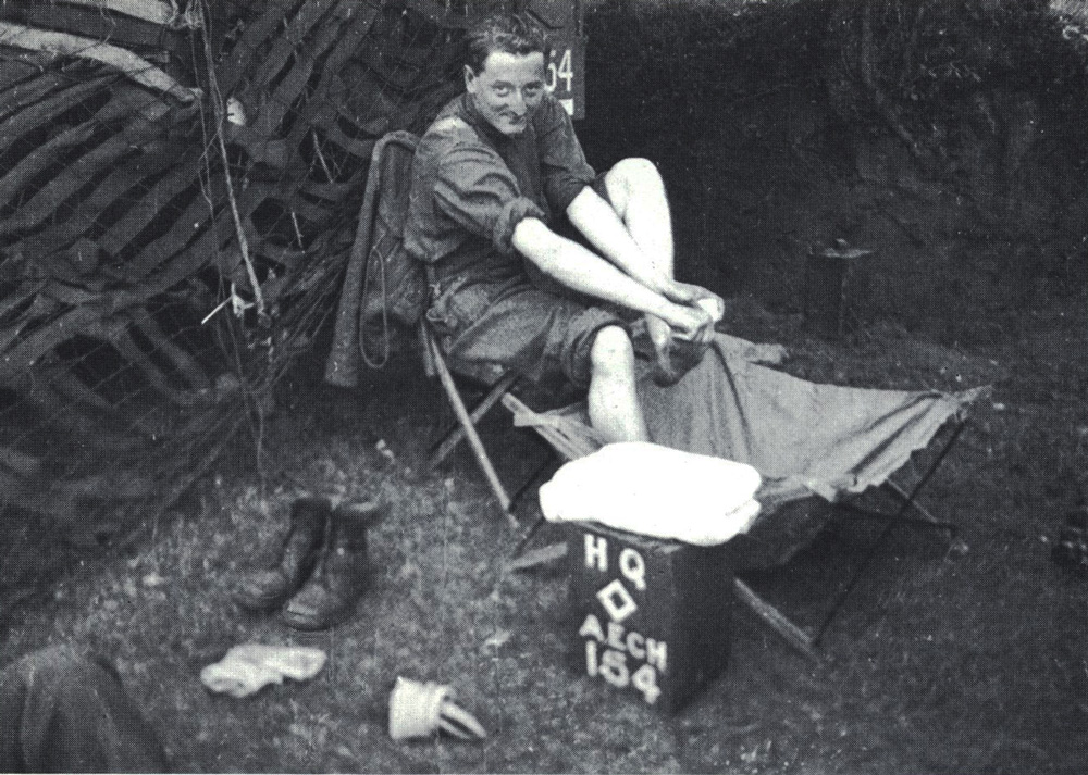 Lord Charles Maclean in Normandy shortly after D-Day