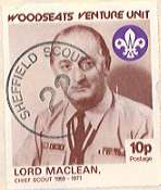 Lord Charles Maclean on a commorative stamp