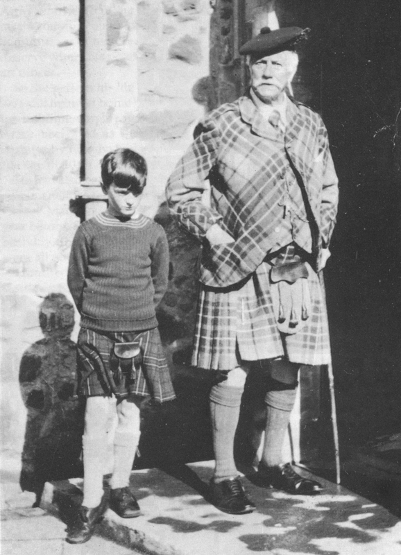 Lord Maclean with his grandfather, Sir Fitzroy