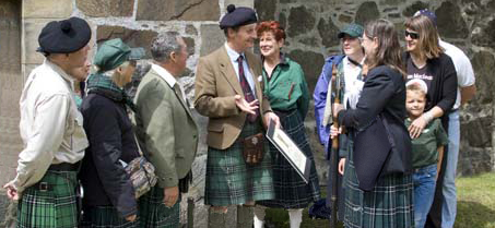 Sir Lachlan Speaking With Guests to Duart Castle